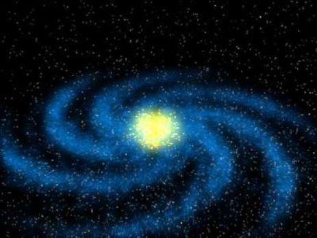 свастичная форма галактики