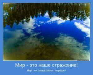 мир-наше отражение